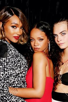 Cara Delevingne, Rihanna, And Jordan Dunn Jordan Dunn, Rihanna Style, Celebrity Style Inspiration, Rihanna Fenty, Cara Delevingne, Celebs, Celebrities, Tumblr Girls, Woman Crush