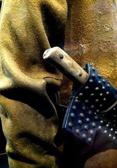 "Studded leather knife sheath. ""Spirit of the Old West"" exhibit. Blackhawk Museum. Danville, CA Zippertravel.com Digital Edition"