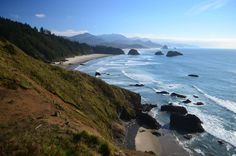 Cannon Beach, taken from Ecola Point on Oregon's northern coast. (2956x1958)