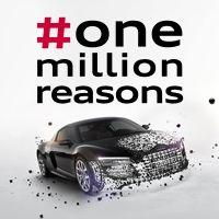 """Jetzt mit #onemillionreasons die Geschichte hinter jedem """"Like"""" entdecken und #Audi mit den Augen der Fans sehen!"""