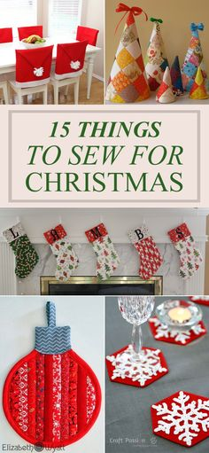 15 Things To Sew For Christmas This Year