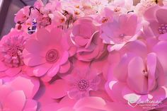 paper flowers embellished with glass pearls by balushka on Etsy