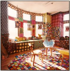 Hows this for an over the top  crochet/knitting display?
