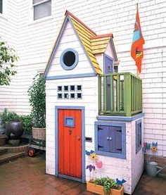 colorful sweet house- I want make this when I have kids!