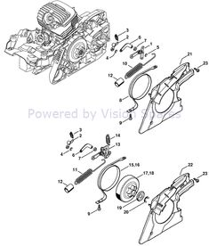 Stihl MS 271 Chainsaw (MS271) Parts Diagram, Oil Pump
