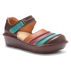 SPRING STEP Womens Bumblebee Mary Jane Shoes Brown Multi Leather BUMBLEBEE-BRM #SpringStep #Clogs
