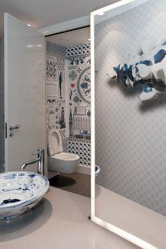 Andaz Hotel Digital Wallpaper/Fotobehang Delfts Blauw by Marcel Wanders - BN Wallcoverings