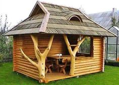 Get inspired with our gazebo ideas to enhance your backyard and create your dream home. Includes design ideas, pictures and more. Outdoor Projects, Wood Projects, Woodworking Projects, Woodworking Plans, Woodworking Furniture, Outdoor Rooms, Outdoor Living, Backyard Cottage, Log Homes