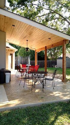 Cedar Park Covered Patio Transformation, The Ef Backyard Patio Designs, Pergola Patio, Diy Patio, Backyard Landscaping, Small Pergola, Modern Pergola, Patio Awnings, Diy Gazebo, Gazebo Ideas