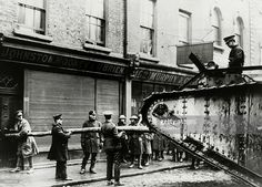 Easter Rising - British tank is used to batter down a door, during a door to door search for snipers, The Irish rebellion began on Easter Monday April 1916 when the Irish rebels attempted to gain. Ireland 1916, Dublin Ireland, Irish Independence, Irish News, Easter Rising, Dublin Castle, Army Soldier, British Army, Stock Pictures