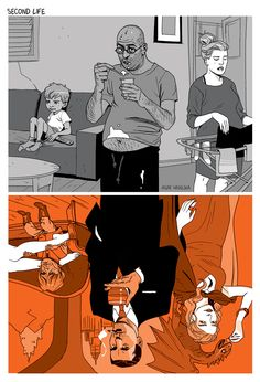 Tomer Hanuka and Asaf Hanuka are two distinguished artists from Israel, who are famous for their successful and sarcastic illustrations. Colorful, with a lot of depth visualizations that portray what is wrong with society today. Tomer Hanuka, Satire, Issues In Society, Satirical Illustrations, Bd Comics, Cartoon Styles, Creative Art, Amazing Art, Comic Art