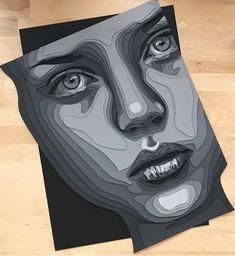 Ritratti in cartone Quilled Paper Art, Stencil Painting, Art Challenge, Op Art, Unique Art, Collage Art, Sculpture Art, Vector Art, Art Projects