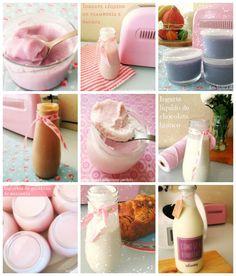 Danoninhos de melancia Iogurte de coco Iogurte com gelatina de amora SEM LACTOSE Iogurte com gelatina de chá verde e limão SEM ...