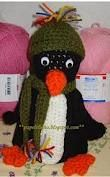 Pinguim de crochet