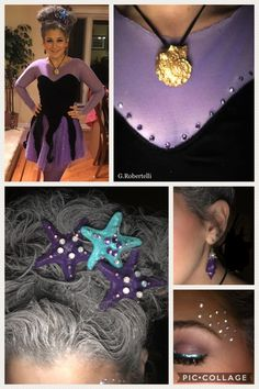 Save bc of Necklace - Fasching - halloween crafts Mermaid Costume Kids, Little Mermaid Costumes, Mermaid Halloween Costumes, Mermaid Diy, Family Halloween Costumes, Halloween Diy, Halloween Makeup, The Little Mermaid, Sea Witch Costume