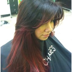 Red ombre w/ bangs idea.