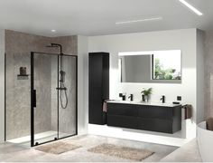 X²O   Storke Edge zwart lak mat dubbel badkamermeubel. #x2o #badkamerinspiratie #zwart #badkamer House Bathroom, Interior, Bedroom Design, Shower Room, Bathroom Interior Design Modern, Home Decor, Bathroom Mirror, Bathroom, Interior Photography