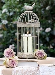 New wedding table decorations Bird Cage Table Centre, Bark Lantern, Rustic Wreath, Bunting, Biodegradable Petal Confetti