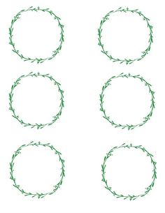 Free blank printable place cards {wreaths} | 11 Magnolia Lane