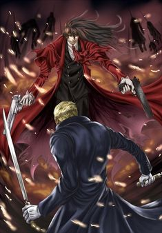 Hellsing Alucard vs Anderson (one hell of a fight)