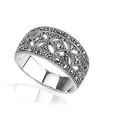 Zilveren Ring Markasiet 45