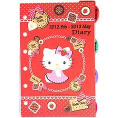 2012 Hello Kitty Planner Agenda Organizer Refills LATEST 2012.2 ~ 2013.5 H6910