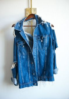 ACNE Destroyed Jacket  #ChevyChic http://www.essence.com/essence-street-style-contest