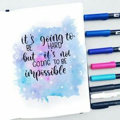 Calligraphy Quotes Doodles, Brush Lettering Quotes, Doodle Quotes, Hand Lettering Quotes, Creative Lettering, Art Quotes, Watercolor Calligraphy Quotes, Bullet Journal Lettering Ideas, Bullet Journal Writing
