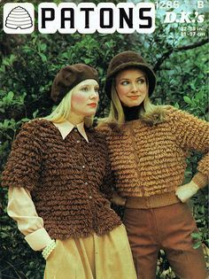 This is a copy of a Pattern from the Details for both Long and Short Sleeves. You will receive a colour front page copy of the Pattern. Sweater Knitting Patterns, Knit Patterns, Vintage Knitting, Vintage Crochet, Yarn Bombing, Double Knitting, Shopping Hacks, Cardigans For Women, Knitted Hats