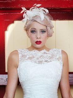 @Liza Flores Flores Maciorowski @Allison j.d.m j.d.m Achille This casual up do would look good with your dress. Hair with birdcage veil