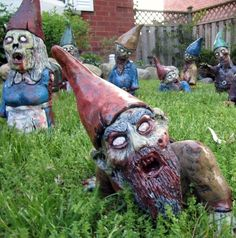 @Brianne Rand @Meagan Rand Zombie Garden Gnomes!!!  Too Funny!