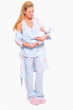 The Olian Cotton Nursing 4pc. Pajama Set $117.00
