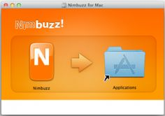 """A window will appear prompting you to install Nimbuzz for Mac 1.2.0 to your Applications folder. Using your mouse, click and drag the Nimbuzz """"N"""" logo and ..."""