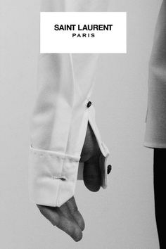 black and white, button, shirt, YSL, saint Laurent, fashion photography, ad, campaign