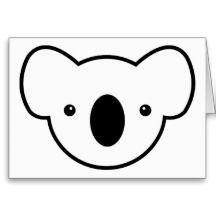Koala Face Masks Template