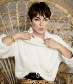Serinda Swan, Pixie Styles, Short Hair Styles, Short Messy Haircuts, Short Pixie, Pixie Cuts, Short Hair Cuts For Women, Hair Today, Pretty Face