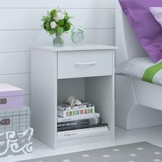 online shopping for Mainstays Nightstand MDF End Tables Pair Bedroom Table Furniture Multiple Colors White) from top store. See new offer for Mainstays Nightstand MDF End Tables Pair Bedroom Table Furniture Multiple Colors White) Table Furniture, Bedroom Furniture, Home Furniture, Furniture Storage, Furniture Ideas, Storage Drawers, Storage Spaces, Table Storage, Storage Shelves