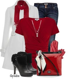 """""""Winter White Coat"""" by stephiebees on Polyvore"""