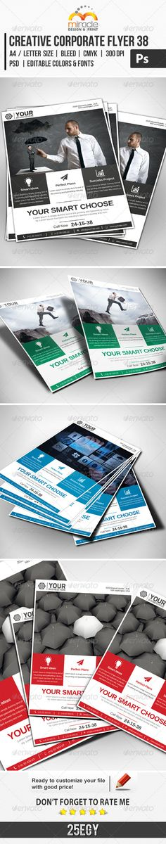 Creative Corporate Flyer 38 :  Check out this great #graphicriver item 'Creative Corporate Flyer 38' http://graphicriver.net/item/creative-corporate-flyer-38/7467952?ref=25EGY