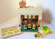 Vintage Fisher-Price 'School House'  Lots of by TheChildrensRoom