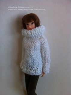 White reversible sweater/jacket for Blythe Azone by RainbowDaisies