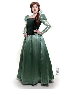 Belle's Green Library Dress by Kelldar