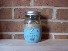 A personal favorite from my Etsy shop https://www.etsy.com/listing/223816387/pint-size-mason-jar-hand-painted-with