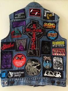 SABBATH WORSHIP current state Combat Jacket, Battle Jacket, Punk Jackets, Denim Jackets, Pride And Glory, Heavy Metal Fashion, Band Patches, Crust Punk, Full Metal Jacket
