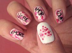Mivi Nail Art: Manicura Amor y Corazon Puntos - San Valentin I