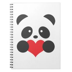 Panda heart notebook