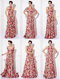 ts couture® prom / avondjurk - converteerbare jurk plus size / petite mantel / kolom vloer-length breien – EUR € 78.39
