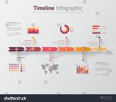 Time Line Infographic Vector Illustration Stock Vector (Royalty Free) 238704139 Infographic Resume Template, Infographic Powerpoint, Timeline Infographic, Mechanical Projects, Data Visualization, Presentation Design, Brochure Design, Web Design, Layout