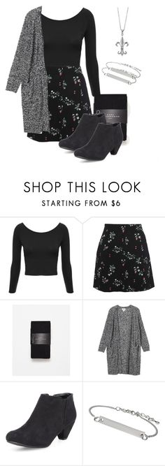Allison Argent Outfit by zoetozier on Polyvore featuring Monki, Pull&Bear, Zara, Dorothy Perkins, BERRICLE and Topshop
