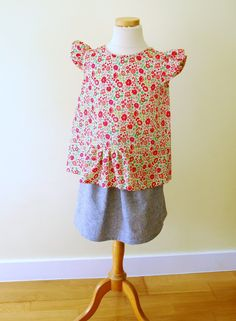 Butterfly Blouse and Skirt#4